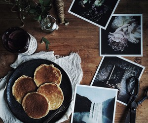 food, pancakes, and brown image