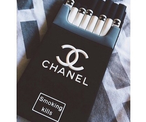 chanel, smoke, and cigarette image
