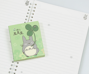 notebook and totoro image