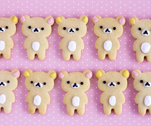 cute, food, and rilakkuma image