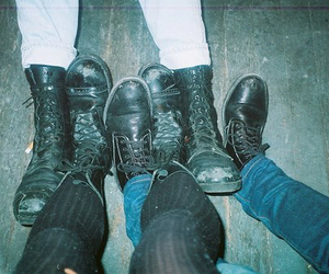 grunge, boots, and shoes image