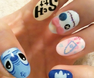 nails, stitch, and cute image