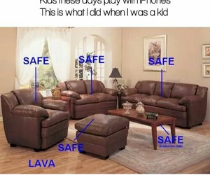 funny, lava, and safe image