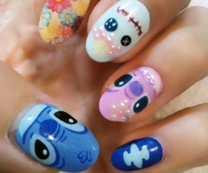 nails, disney, and stitch image