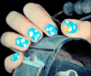blue, nail polish, and sky image