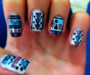 color, nails, and uñas image