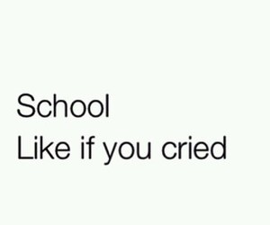school, cry, and sad image