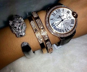 cartier, watch, and bracelet image