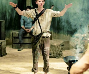 newt, thomas, and thomas sangster image