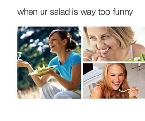 funny, salad, and lol image