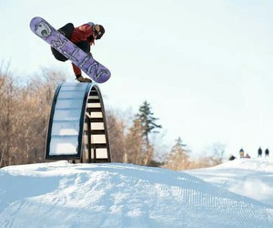 snowboard, snowboarder, and snowboarding image