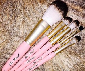 Brushes, pink, and girly image