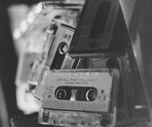 music, vintage, and tape image
