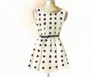 dress and watercolor image
