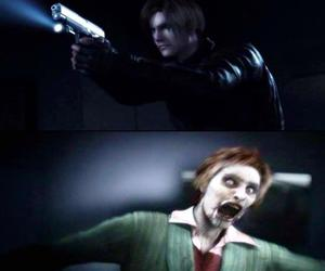 leon, zombie, and resident evil image