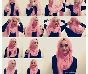 hijab, girl, and tutorial image