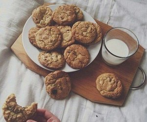 milk, food, and Cookies image