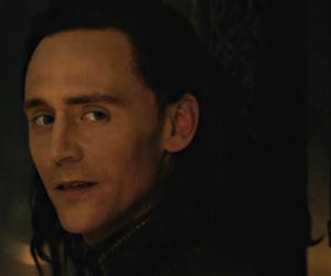 loki, tom hiddleston, and black and white image