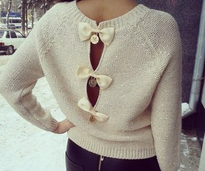 fashion, sweater, and bow image