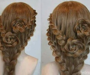 creative, rose, and hair image
