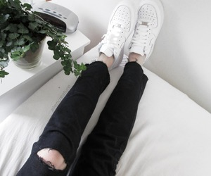 black jeans, nike, and nike air image