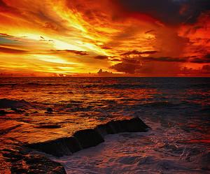 sunset, beautiful, and summer image