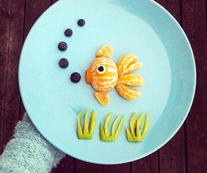 food, fish, and fruit image