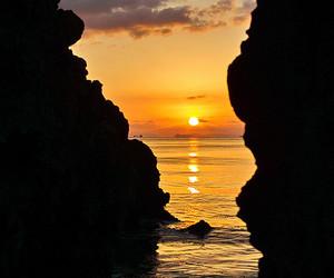 colours, sunset, and orange image