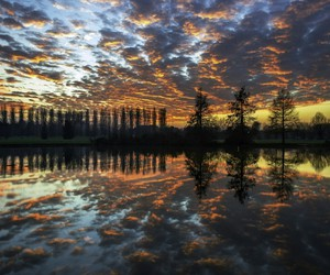 cloud, nature, and reflection image