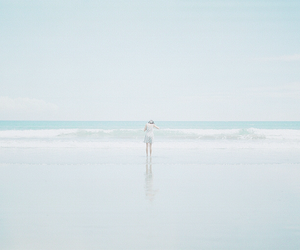 beach, blue, and bright image