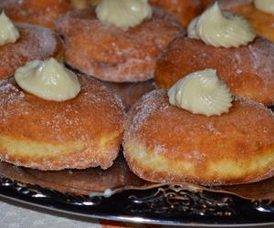 cream, donuts, and doughnuts image