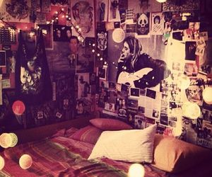 band, bedroom, and music image