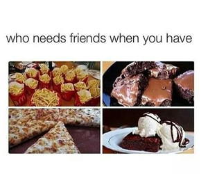 food, friends, and pizza image