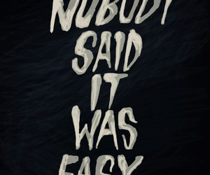quote, Easy, and nobody image