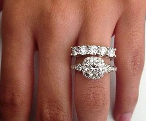 diamonds, rings, and wedding ring image
