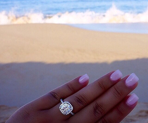diamonds, nails, and ocean image