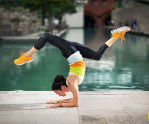 fit, girl, and yoga image