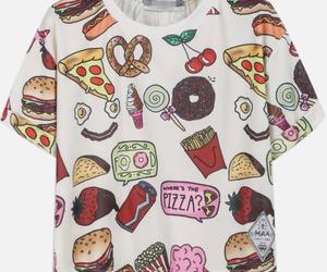 food, shirt, and cool image