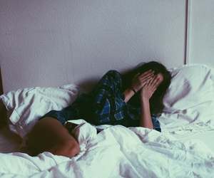 girl, bed, and tumblr image