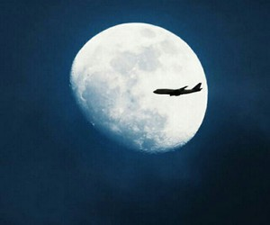 moon, travel, and night image