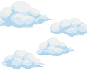 clouds and overlay image