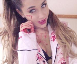 ariana grande, Halloween, and vampire image