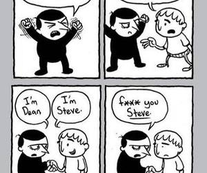 hate, funny, and steve image