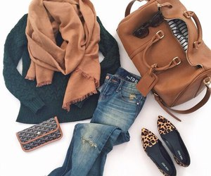 outfit, style, and green sweather image