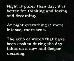night, quotes, and moon image