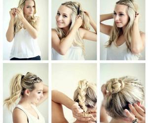 braid, diy, and girl image