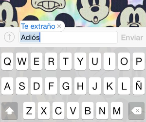adios, frases, and te extraño image