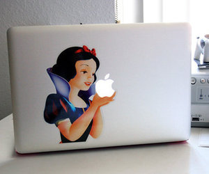 apple, snow white, and computer image