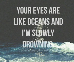 drowning, oceans, and eyes image