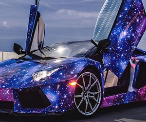 car, galaxy, and Lamborghini image